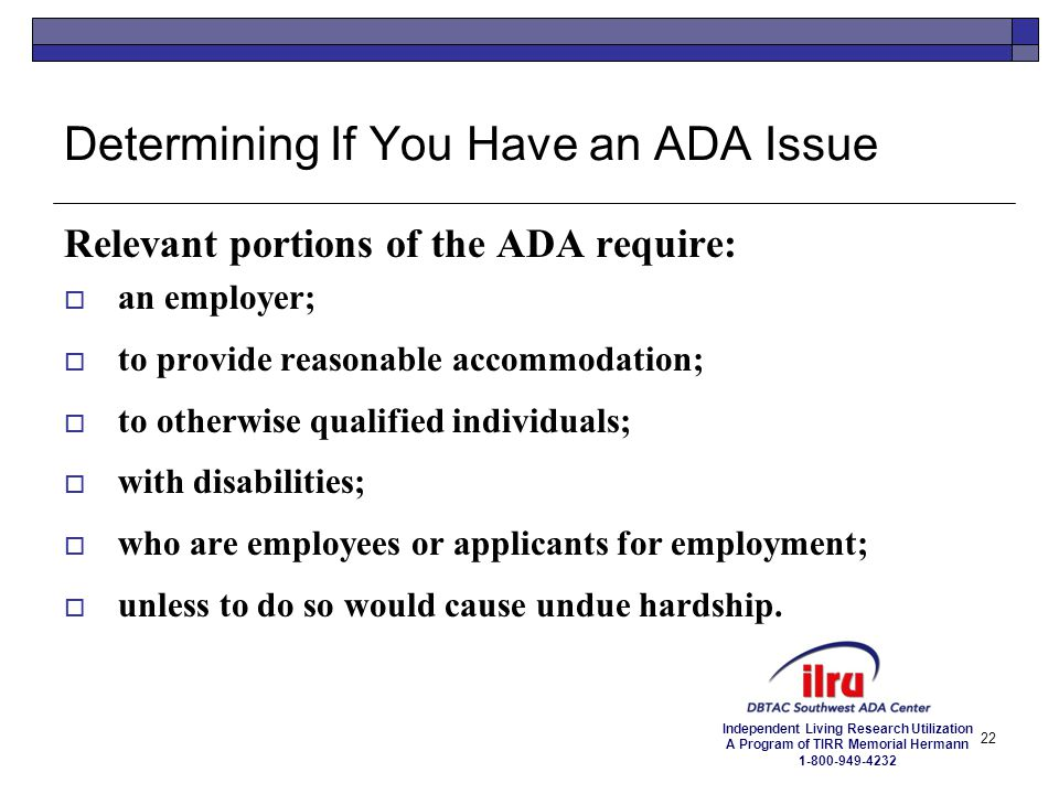 Determining If You Have an ADA Issue