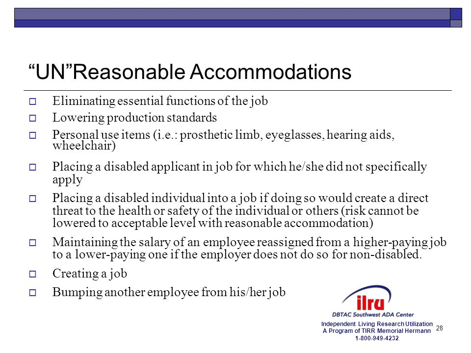 UN Reasonable Accommodations