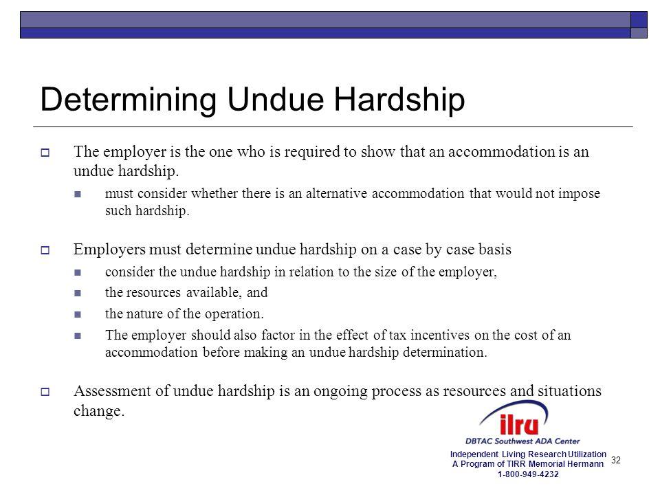 Determining Undue Hardship