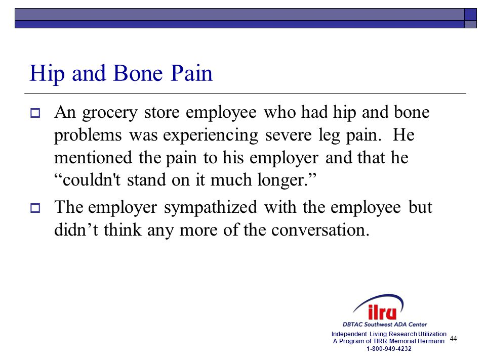 Hip and Bone Pain