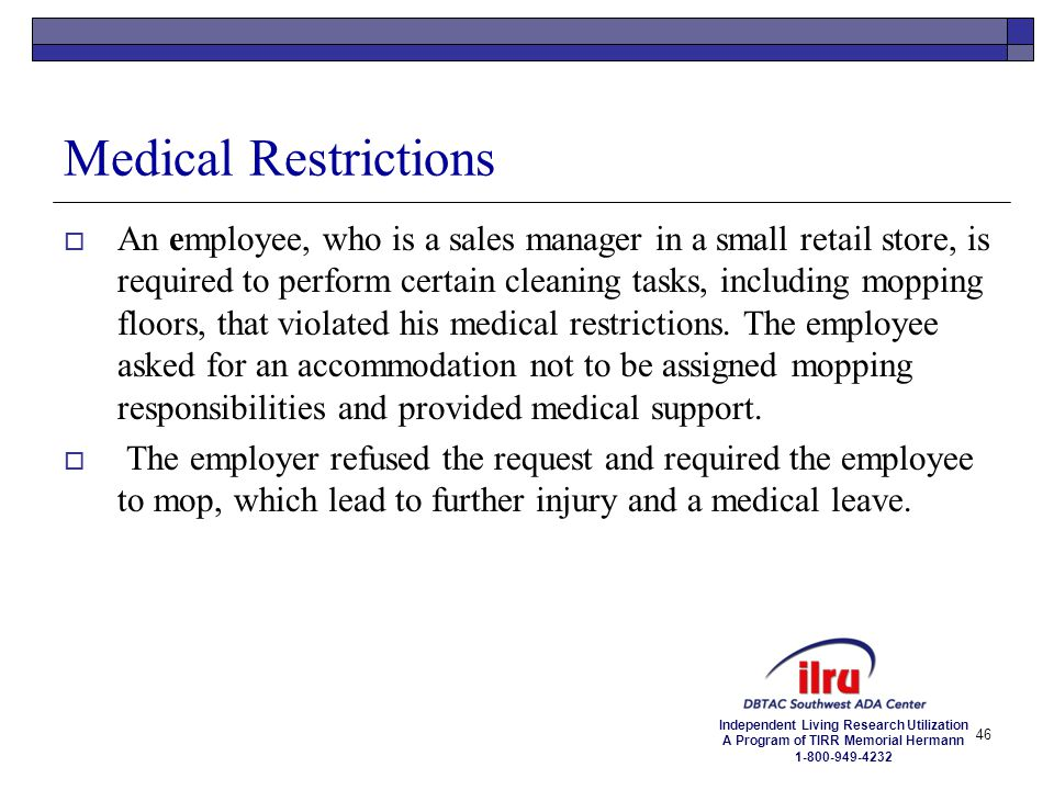 Medical Restrictions