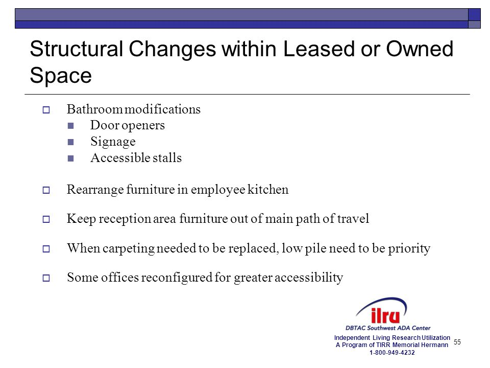 Structural Changes within Leased or Owned Space