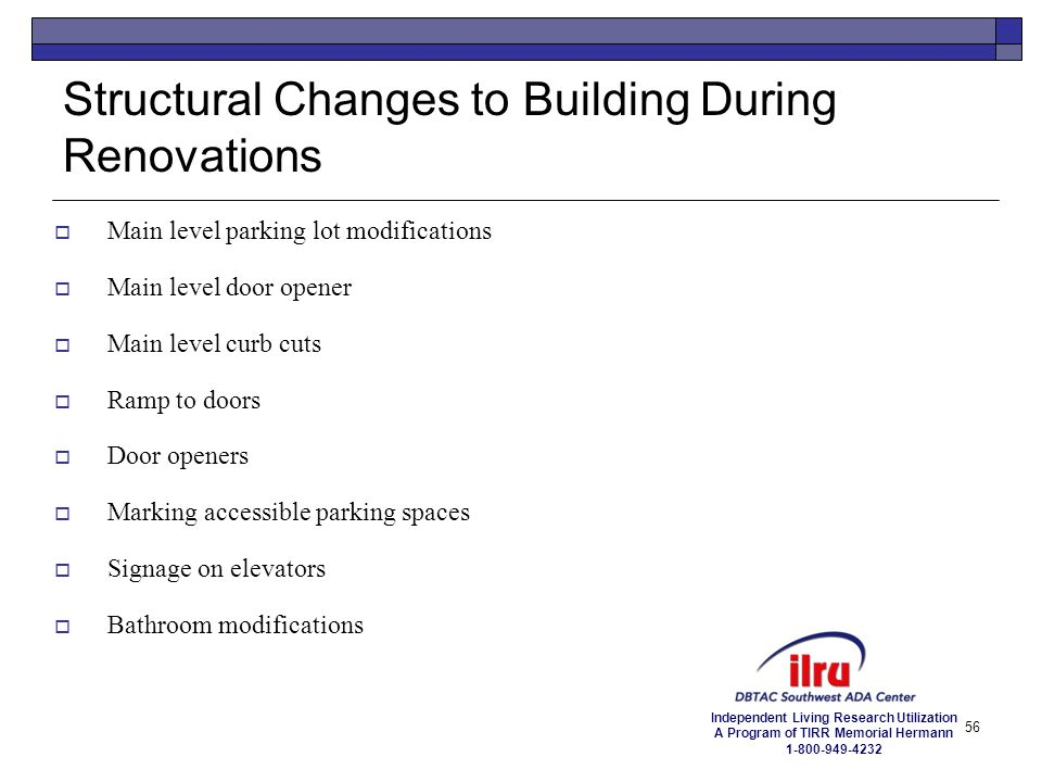 Structural Changes to Building During Renovations