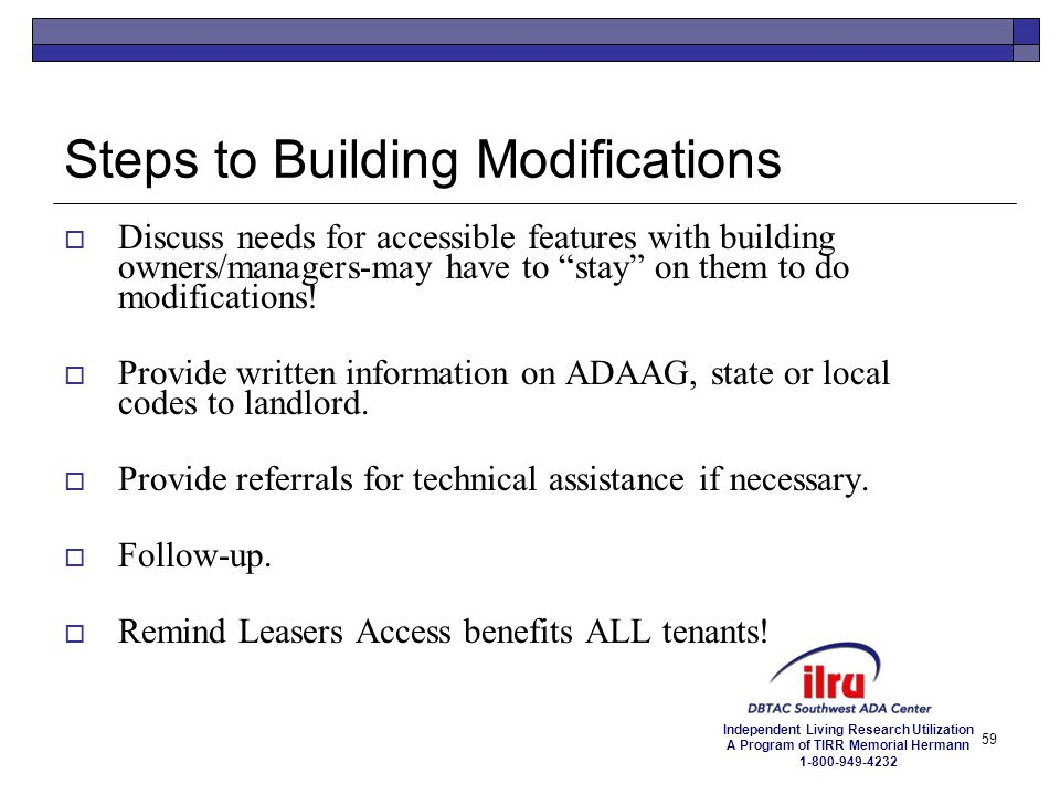Steps to Building Modifications