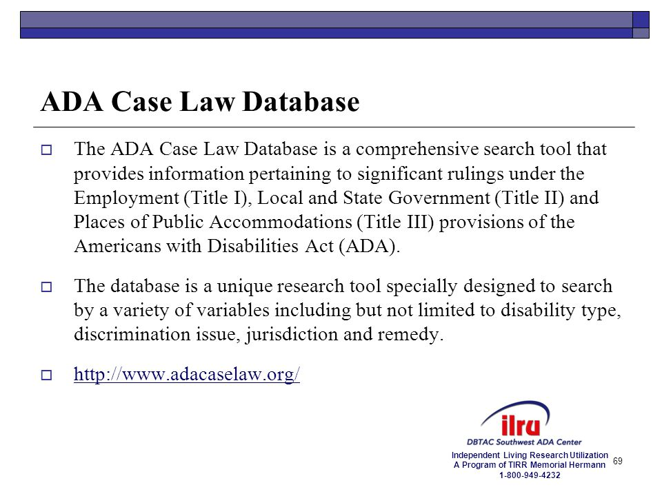 ADA Case Law Database