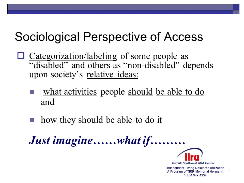 Sociological Perspective of Access