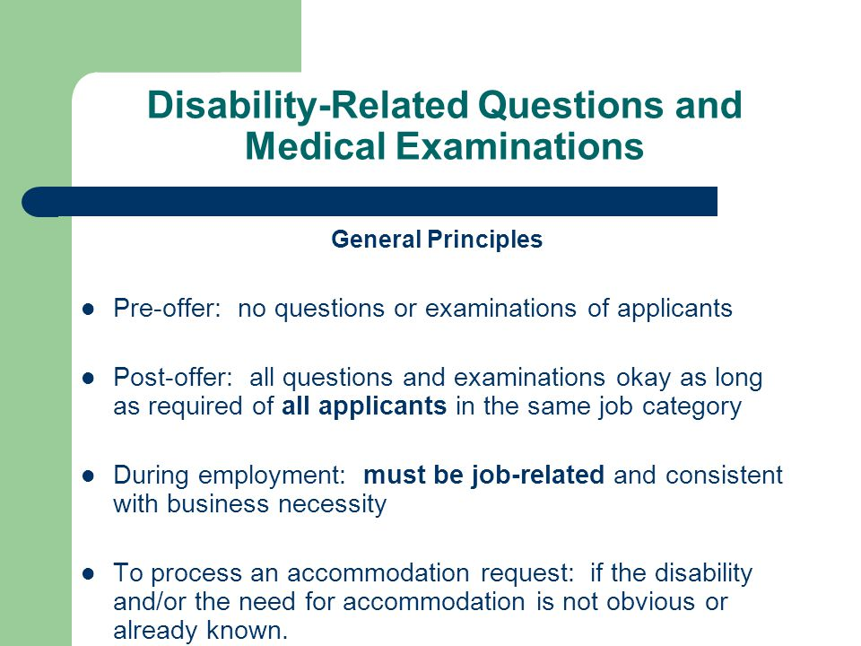 Disability-Related Questions and Medical Examinations
