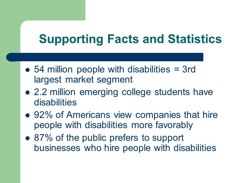 Supporting Facts and Statistics