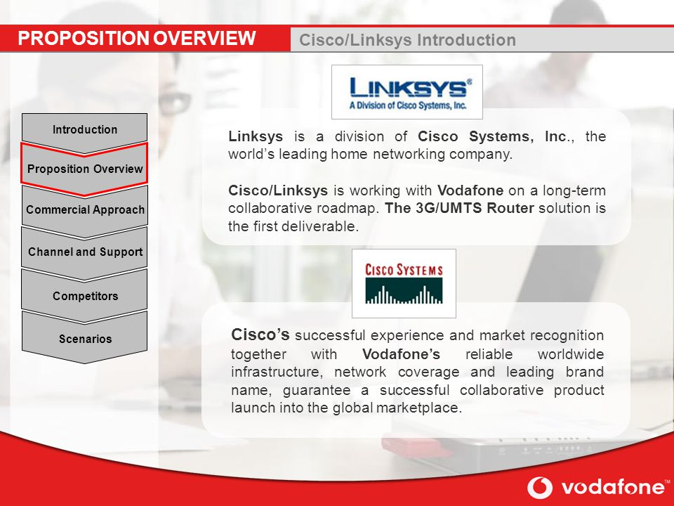 PROPOSITION OVERVIEW Cisco/Linksys Introduction