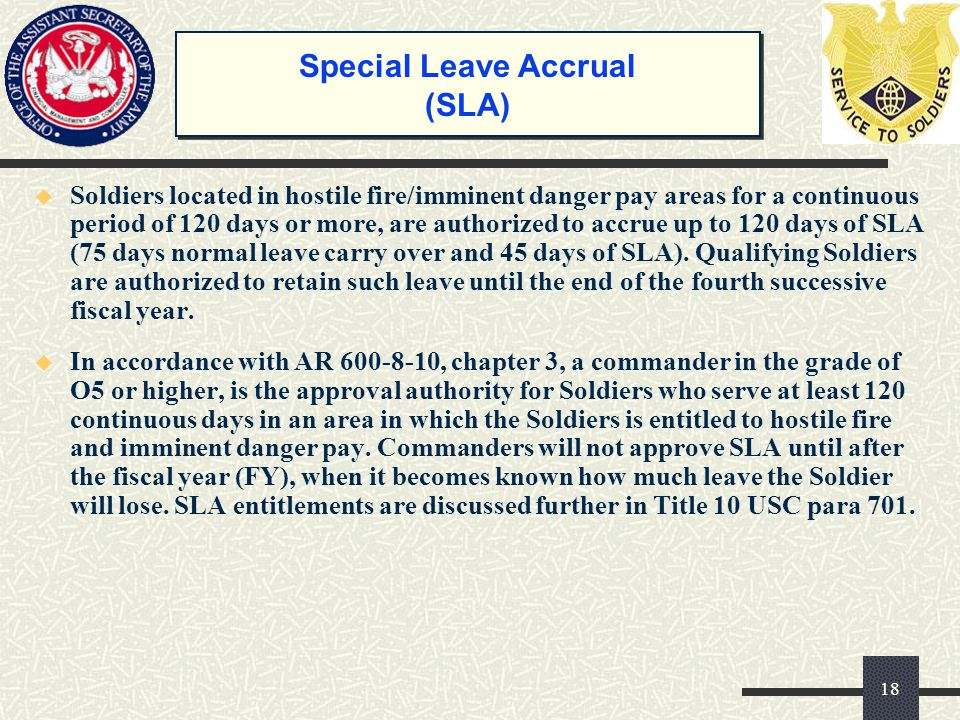 Special Leave Accrual (SLA)