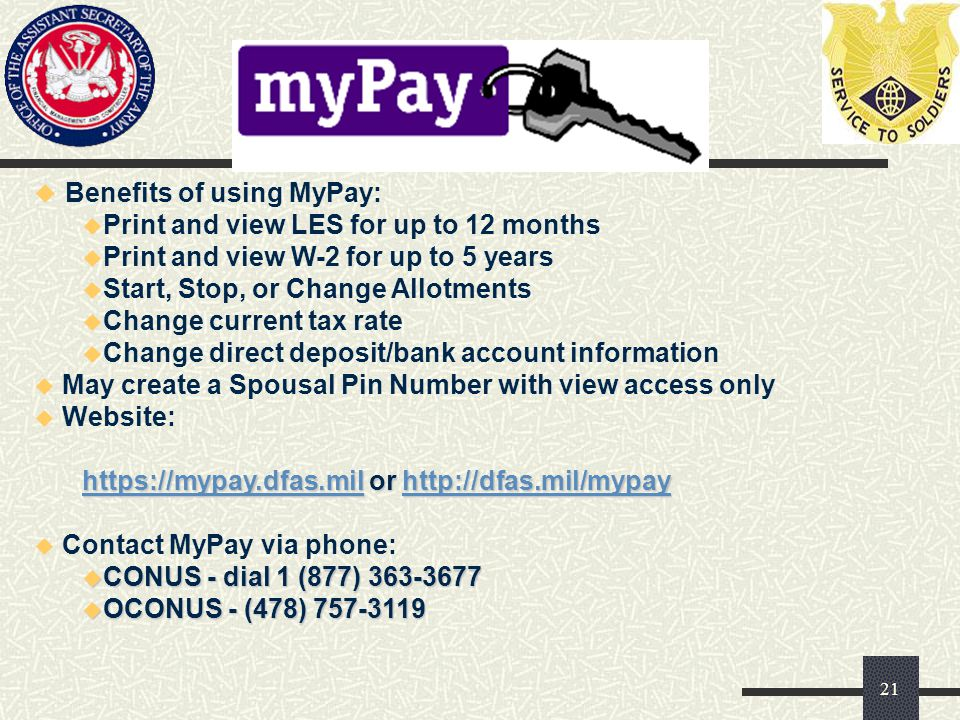 Benefits of using MyPay: