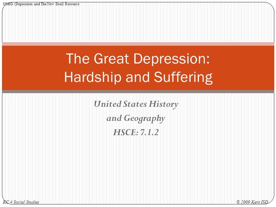 The Great Depression: Hardship and Suffering