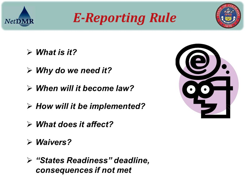 E-Reporting Rule What is it Why do we need it