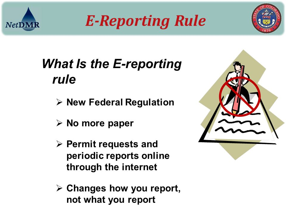 E-Reporting Rule What Is the E-reporting rule New Federal Regulation