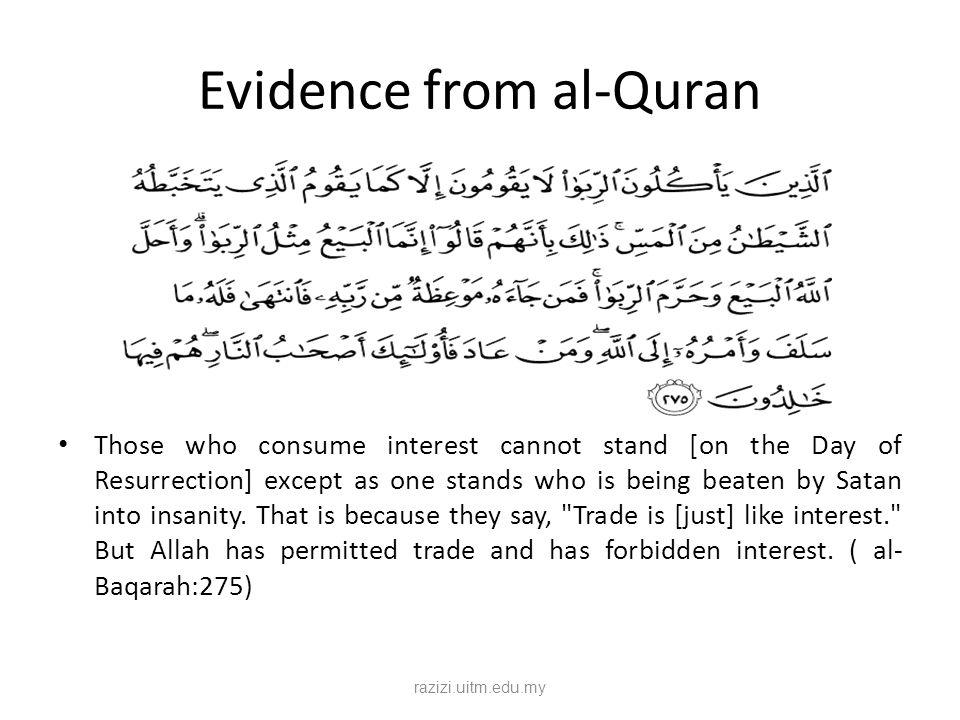 Evidence from al-Quran