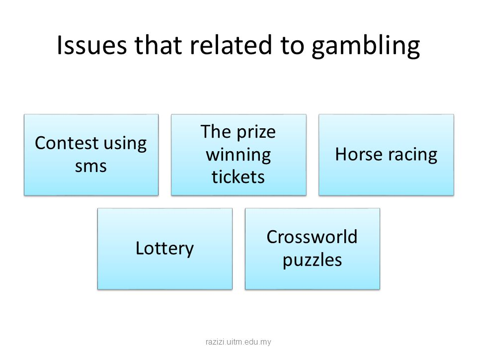 Issues that related to gambling