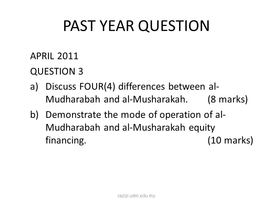 PAST YEAR QUESTION APRIL 2011 QUESTION 3