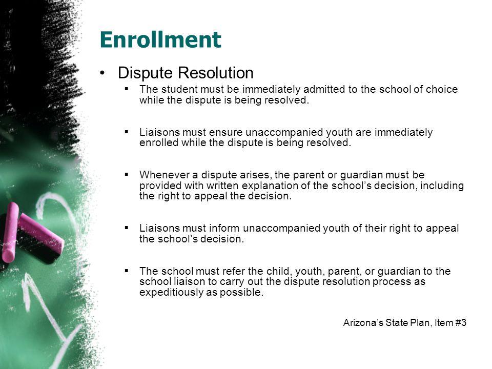 Enrollment Dispute Resolution