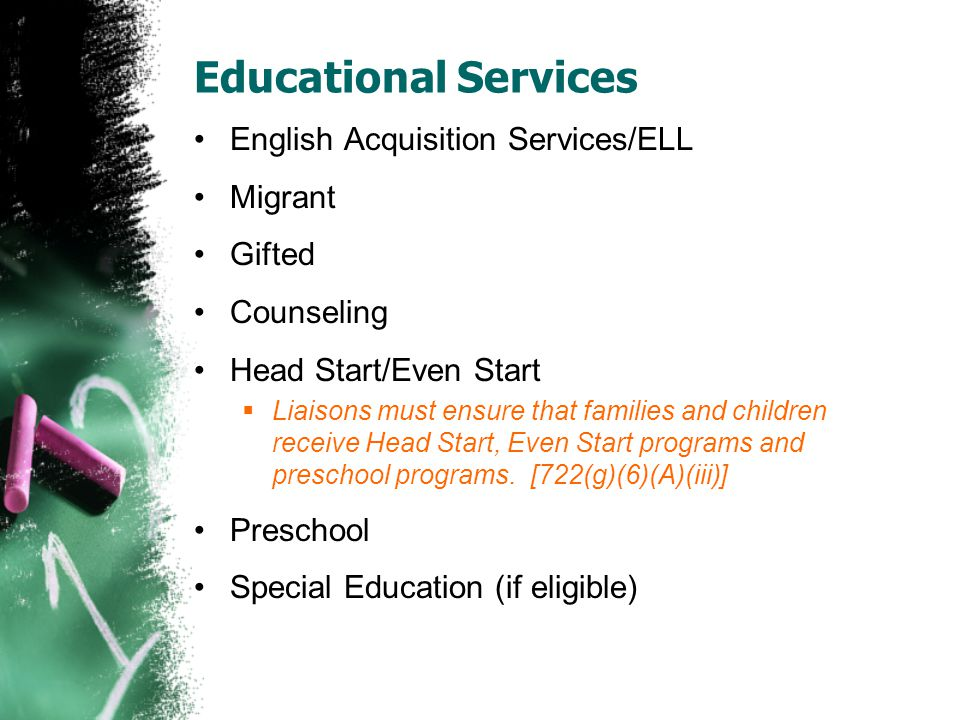Educational Services English Acquisition Services/ELL Migrant Gifted