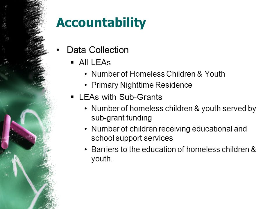 Accountability Data Collection All LEAs LEAs with Sub-Grants