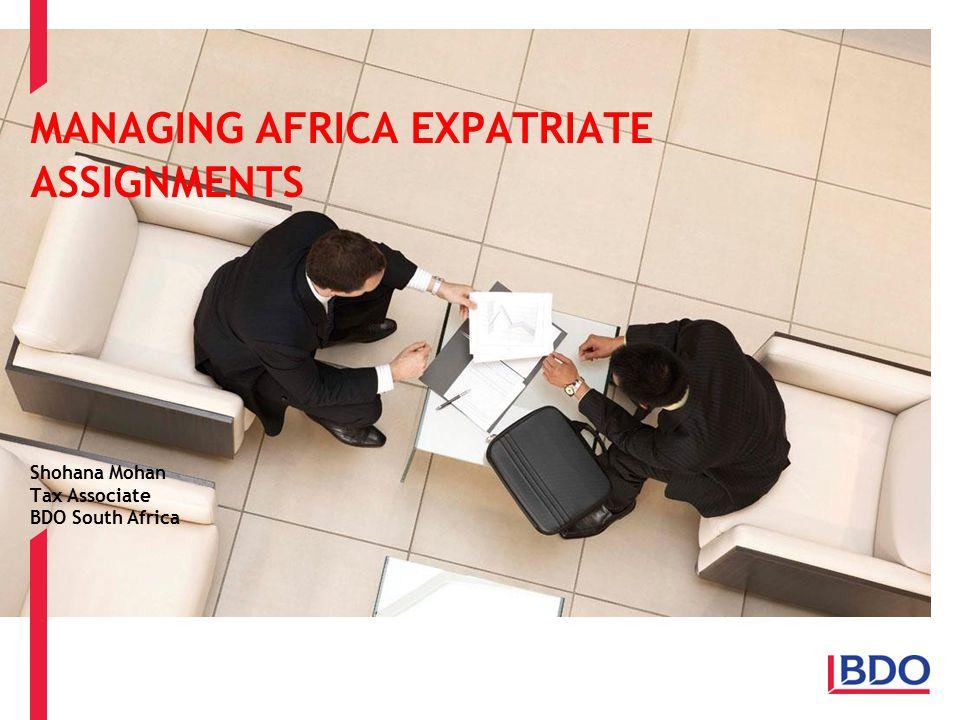 MANAGING AFRICA EXPATRIATE ASSIGNMENTS
