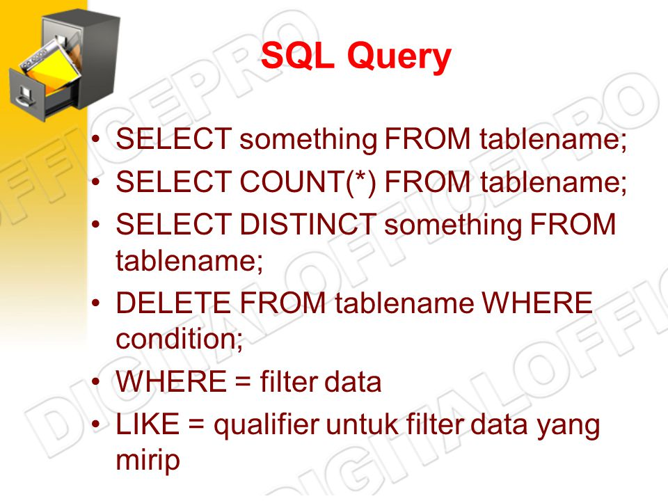SQL Query SELECT something FROM tablename;