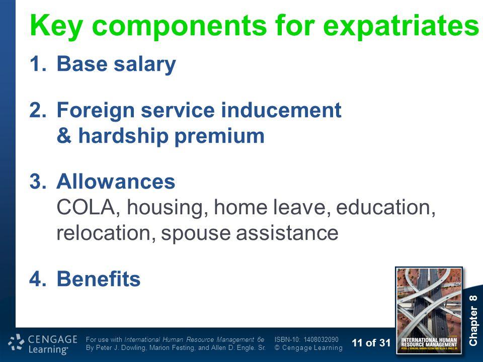 Key components for expatriates