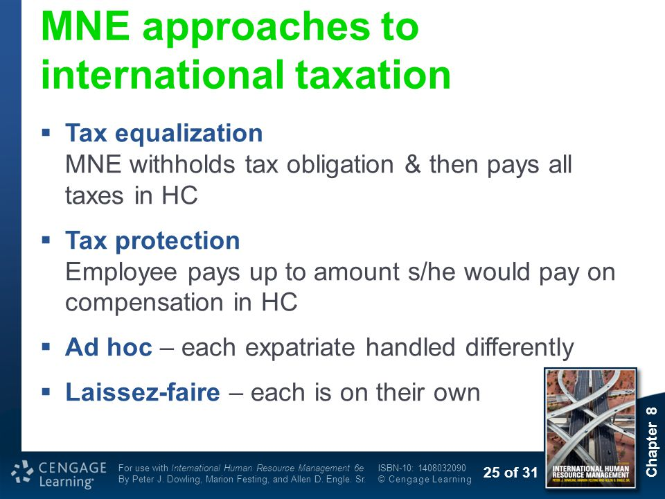 MNE approaches to international taxation