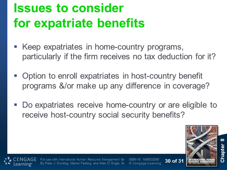 Issues to consider for expatriate benefits