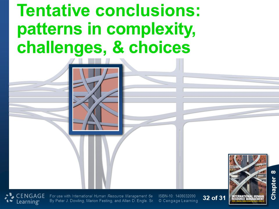 Tentative conclusions: patterns in complexity, challenges, & choices