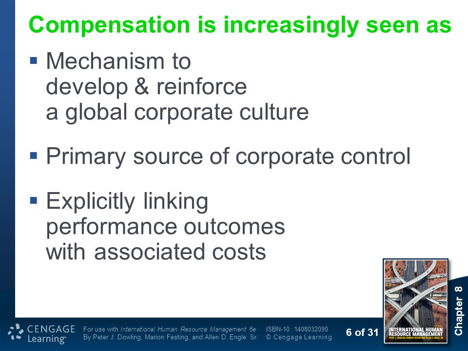 Compensation is increasingly seen as