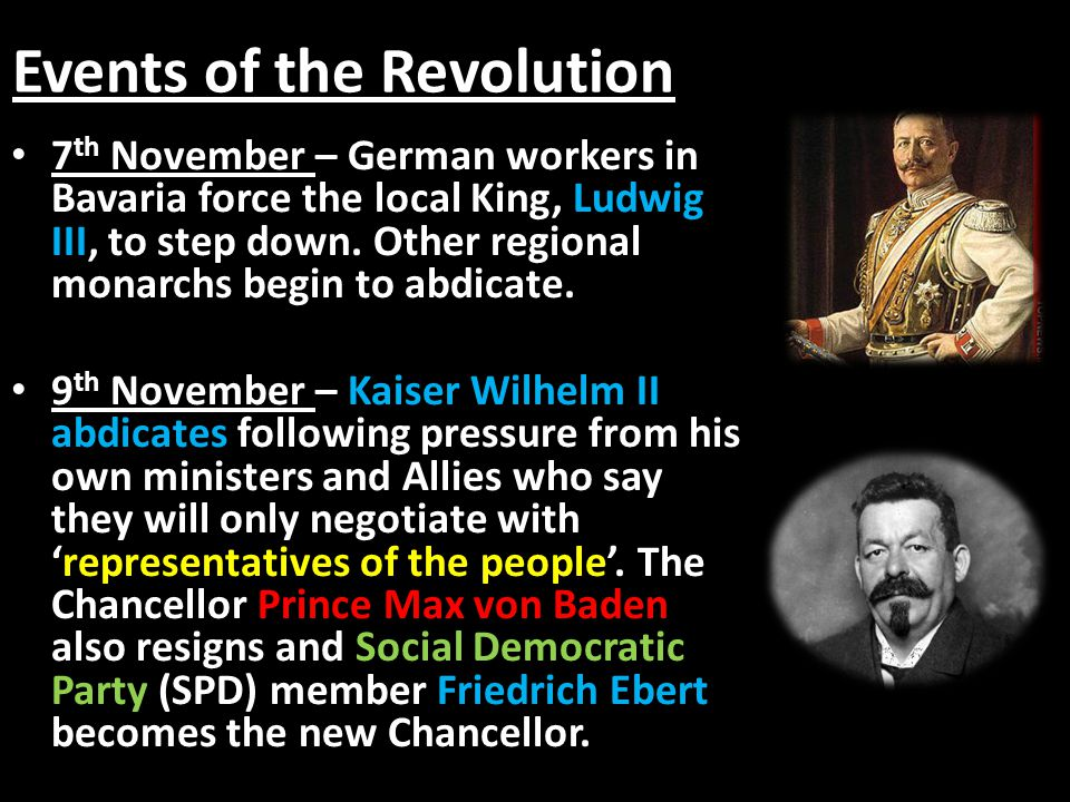 Events of the Revolution