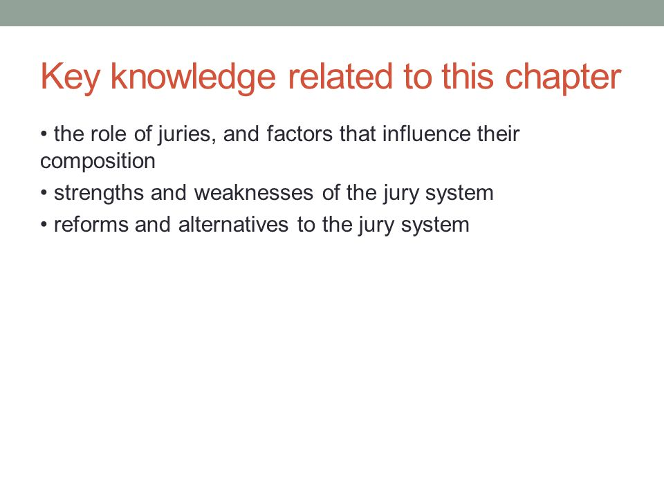 Key knowledge related to this chapter