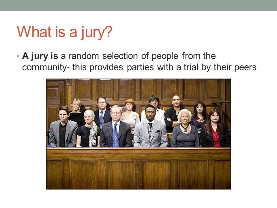 What is a jury.