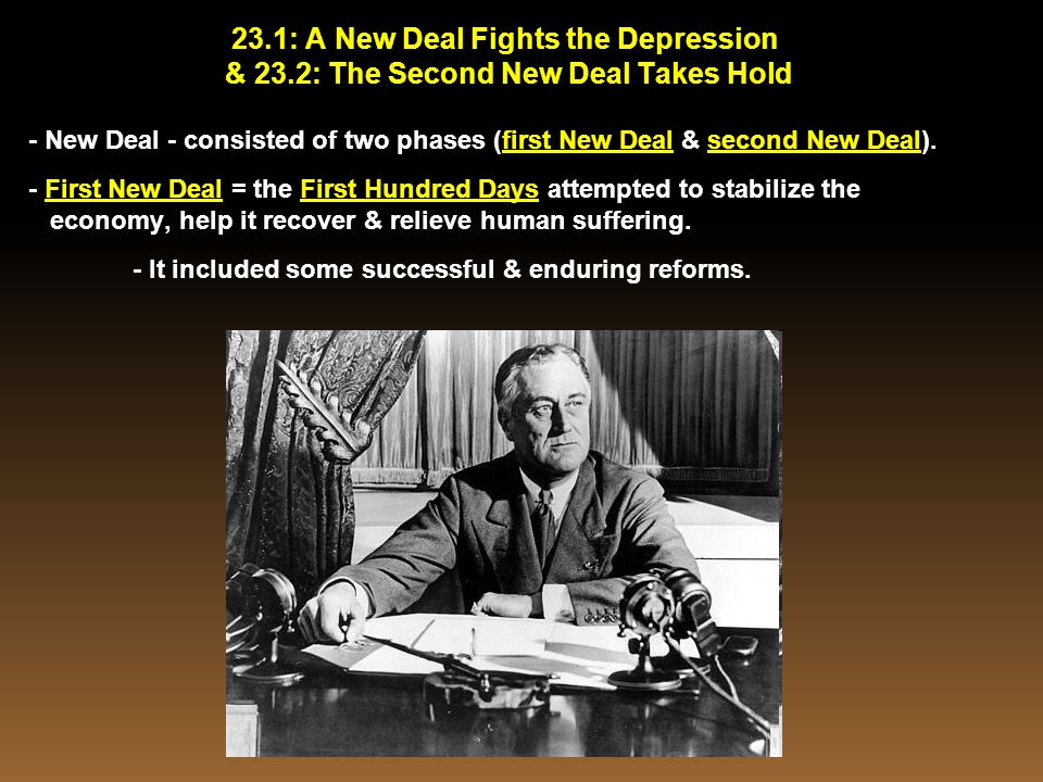 23.1: A New Deal Fights the Depression