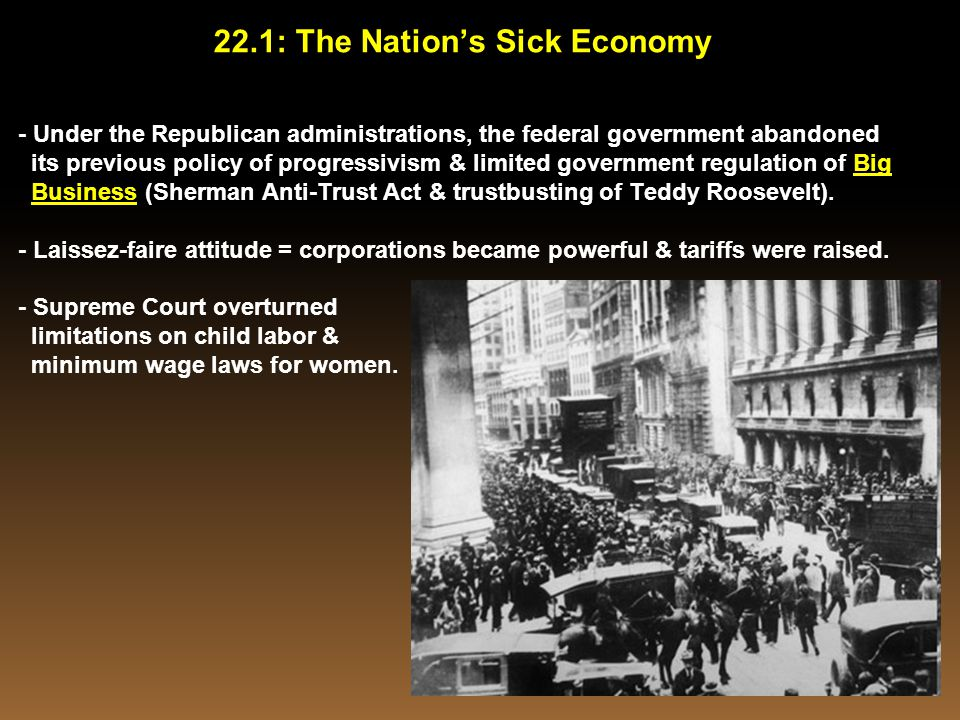 22.1: The Nation's Sick Economy