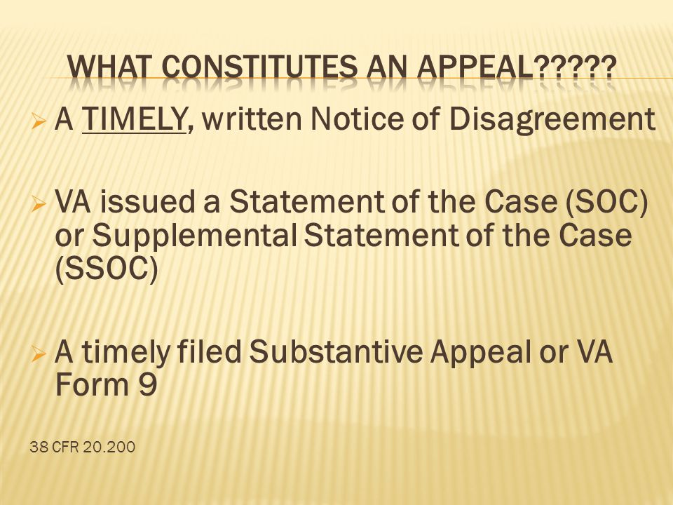 What constitutes an Appeal