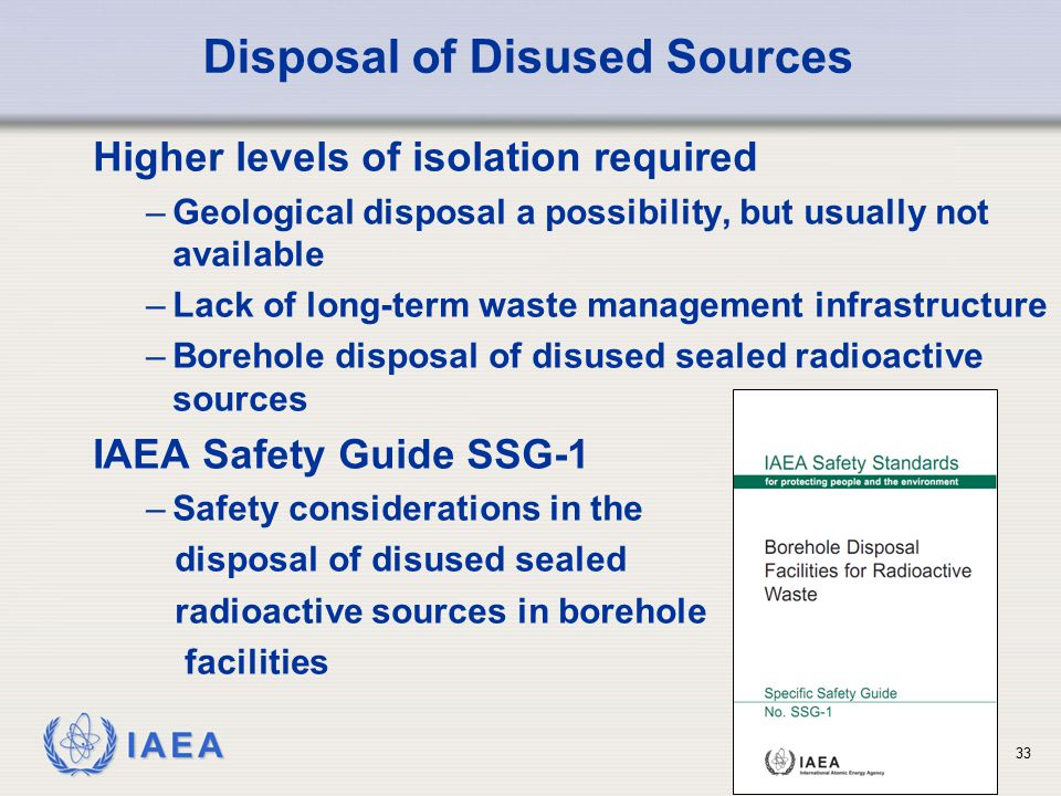 Disposal of Disused Sources