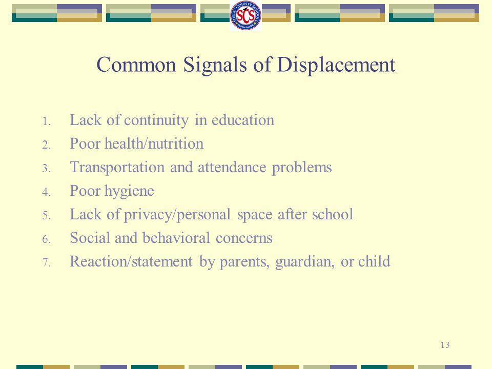 Common Signals of Displacement