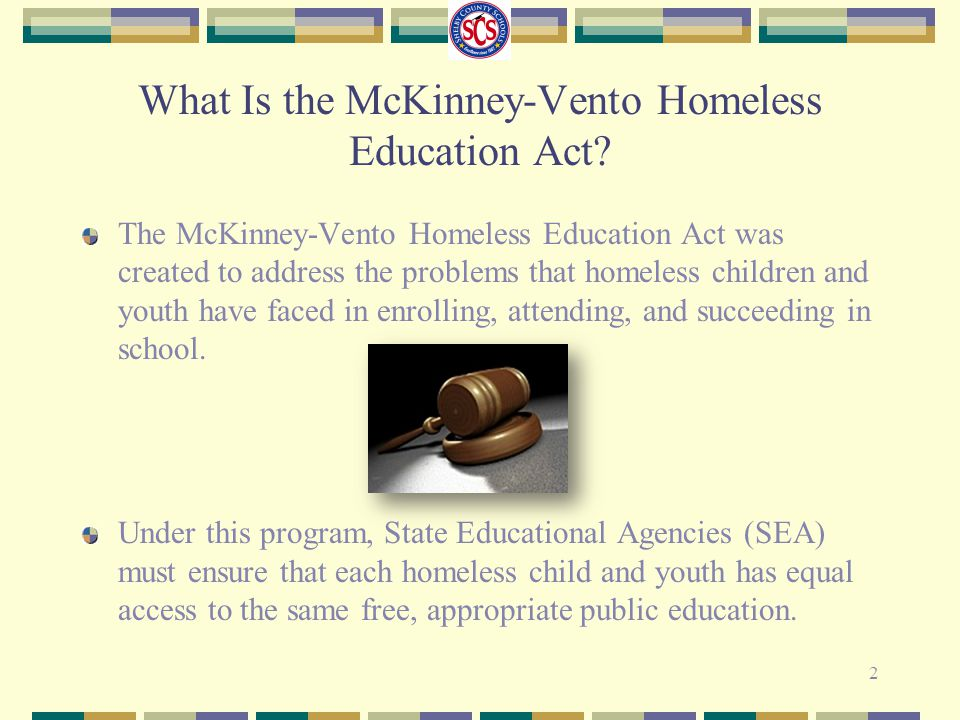 What Is the McKinney-Vento Homeless Education Act