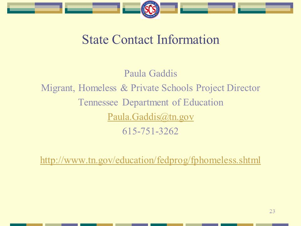 State Contact Information