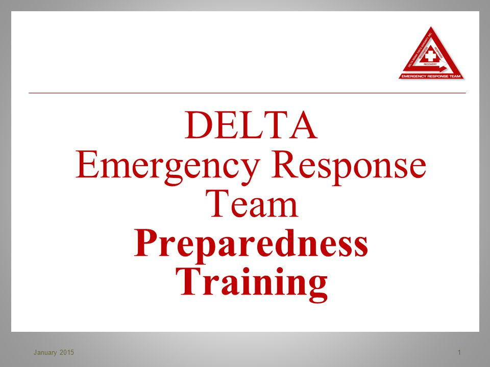 DELTA Emergency Response Team Preparedness Training
