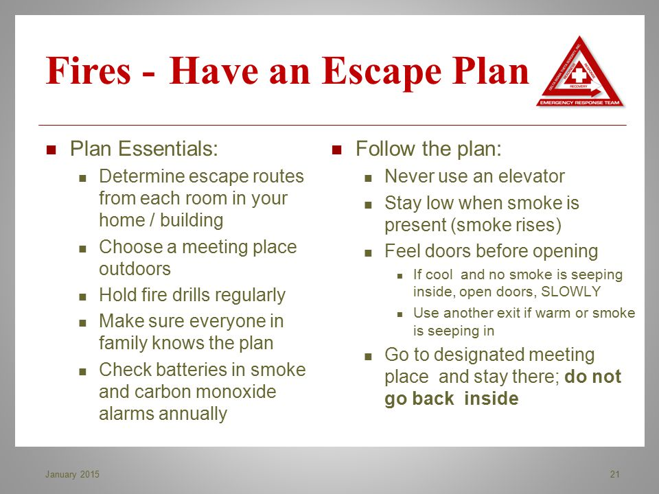 Fires - Have an Escape Plan