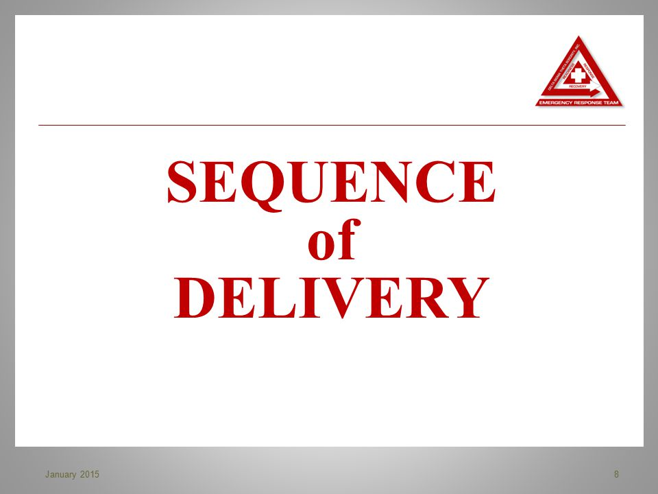 SEQUENCE of DELIVERY January 2015