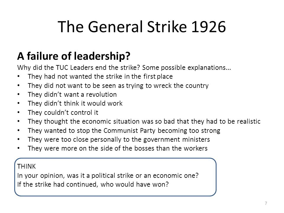 The General Strike 1926 A failure of leadership