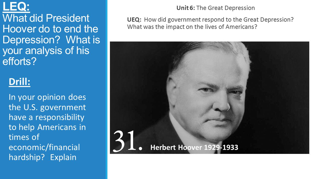 Unit 6: The Great Depression