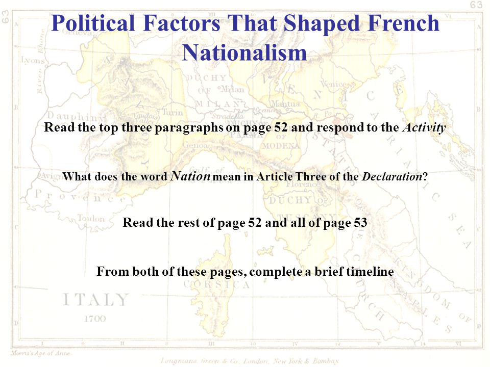 Political Factors That Shaped French Nationalism