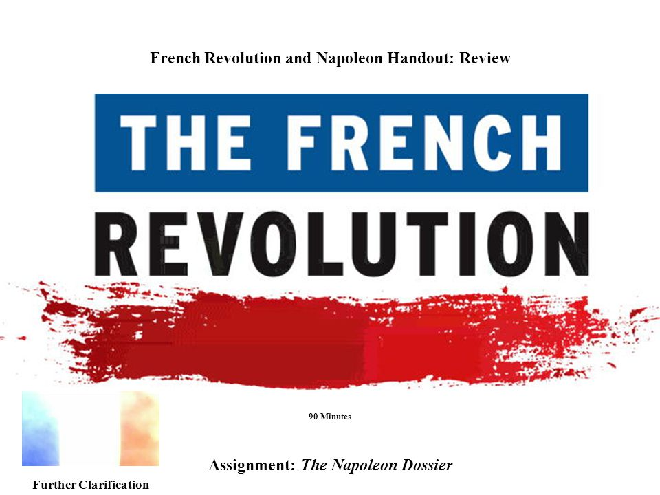 French Revolution and Napoleon Handout: Review