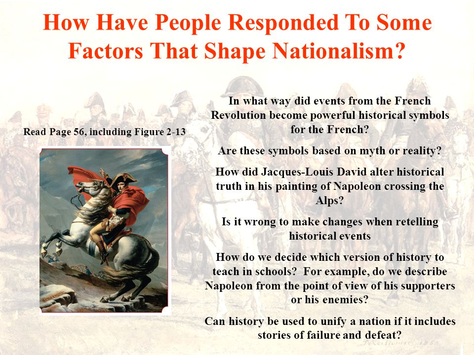 How Have People Responded To Some Factors That Shape Nationalism