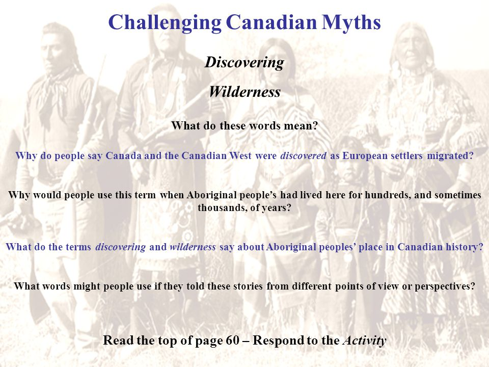 Challenging Canadian Myths